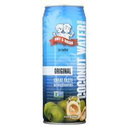 Amy and Brian Coconut Water - Original - Case of 12 - 17.5 Fl oz.