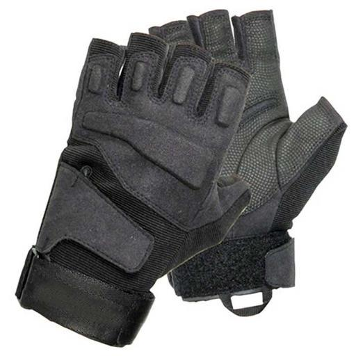 Vista blackhawk men's black solag special ops 1/2 finger light assault glove xxl