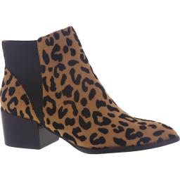 Chinese Laundry Womens Finn Suede Animal Print Ankle Boots