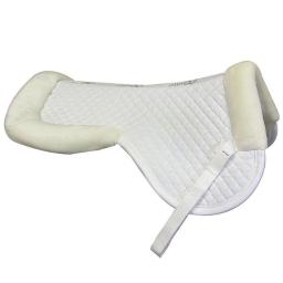 Exselle 157500WTL Large Half Pad with Wither Relief, White - Large