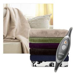 Sunbeam Microplush Electric Heated Throw Blankets - Assorted Colors TRM8VR-R324-31A44