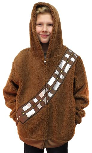 Star Wars Chewbacca Costume Hoodie Kids Youth Zip Up Sherpa Jacket