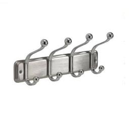 Interdesign 54170 Wall Mount 4 Hook Rack, Chrome