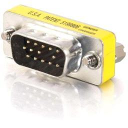 C2G 20686 HD15 VGA M/M MINI GENDER CHANGER (COUPLER)