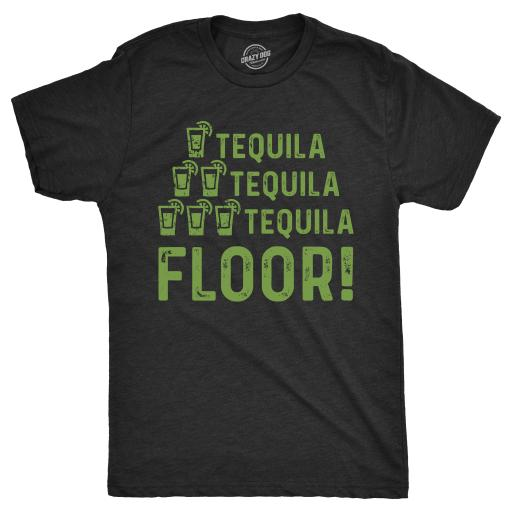 Mens One Tequila Two Tequila Three Tequila Floor Tshirt Funny Cinco De Mayo Tee