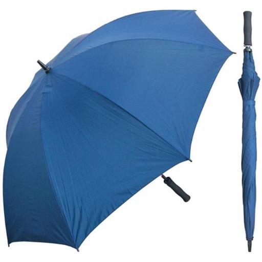 RainStoppers W005N 60 in. Navy Single Canopy Golf Umbrella with Foam Handle, 6 Piece