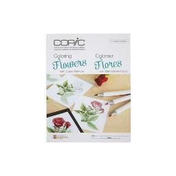 Copic/Imagination Internl Cbflowers Book Coloring Foundations Flowers With Copic Markers