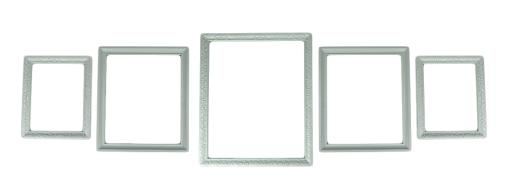 White Beveled Wood 5 Piece Gallery Wall Frame Set