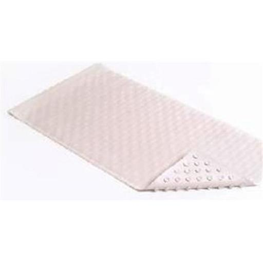 BMAT-C4V04-04 18 x 36 in. White Wave Rubber Bath Mat