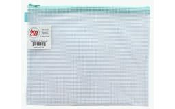 Avez 1901 avery elle zippered vinyl mesh pouch small aqua