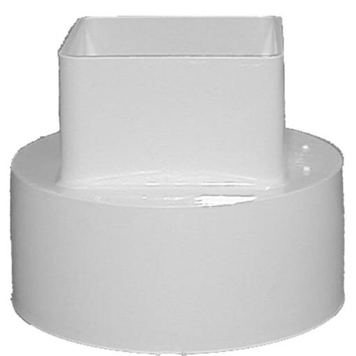 Genova Products 4in. White Downspout Adapter RW207