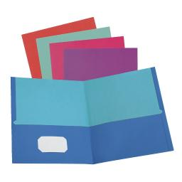 Oxford Twisted Pocket Folder Without Fasteners, Pack Of 50