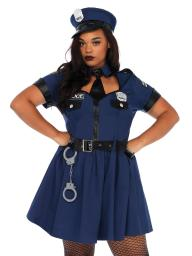 Womens Plus Size Sexy Cop Police Officer Dress Roleplay Costume