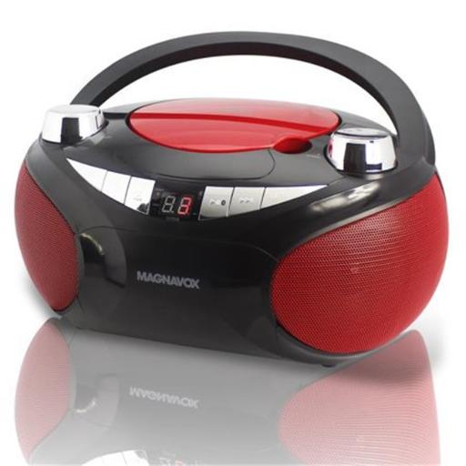 Magnavox MD6949 Red Cd Boom Box with Am & Fm Stereo Radio