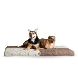 K&H Pet Products 4135 Chocolate / Tan K&H Pet Products Quilted Memory Dream Pad 1 Large Chocolate / Tan 37 X 52 X 1