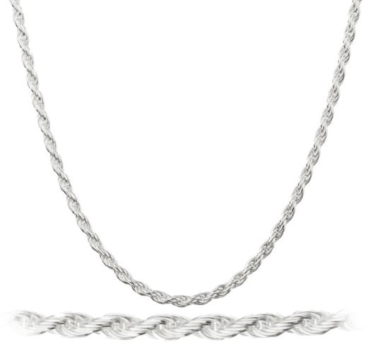 """14K White Gold Filled 2MM Rope Chain 24"""""""