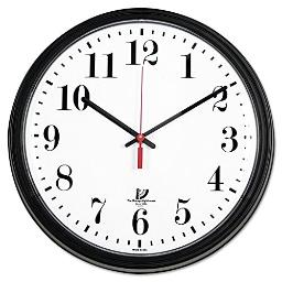 ILC67700002 - CHICAGO LIGHTHOUSE FOR THE BLIND Black Quartz Contract Clock