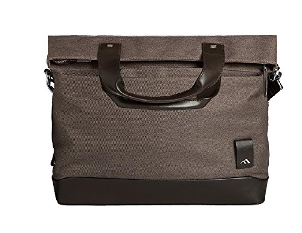 Brenthaven Medina Fold-over Laptop Messenger Bag for Fits 13 inch Chromebooks, Laptops,Tablets Devices - Chestnut, Cotton Canvas Body Material Genuine Napa Leather Trim, Protection from Impact and Compression
