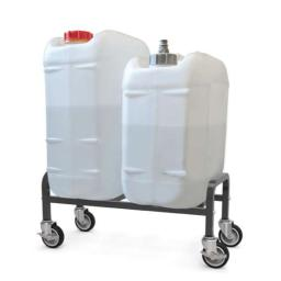 Copernicus Portable Sink Self Contained Hand Wash Station Tank Kit with Dolly - 5 Gallon Fresh Water, 6 Gallon Waste Water