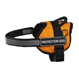 Dean & Tyler 25 to 34-Inch Protection Dog Works Harness, Small, Orange/Black