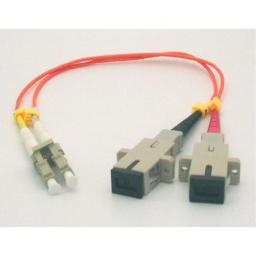 1ft Fiber Optic Adapter Cable LC (Male) to SC (Female) Multimode 50125 Duplex