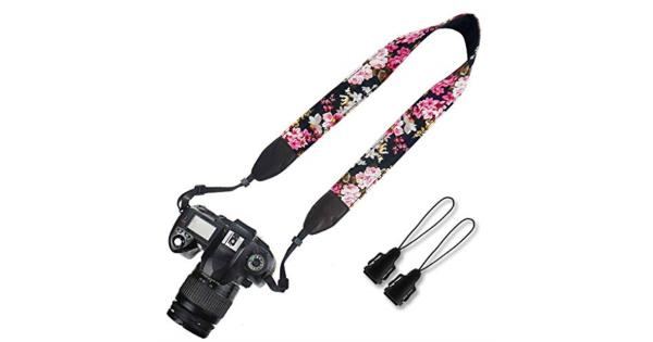 Elvam Universal Men and Women Camera Strap Belt Compatible for All DSLR Camera SLR Camera Instant Camera and Digital Camera - SLR Camera Instant... Elvam Universal Men and Women Camera Strap Belt Compatible for All DSLR Camera SLR Camera Instant Camera and Digital Camera - SLR Camera Instant Camera and Digital Camera - Pink Flower Floral