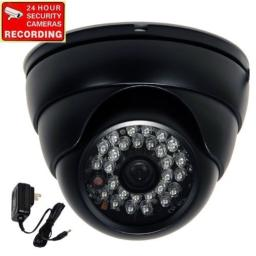 VideoSecu Dome Security Camera Built-in 13 CCD Day Night Vision Outdoor 28 Infrared LEDs 480TVL Weatherproof 36mm Wide View Angle Lens with Power Supply CE7