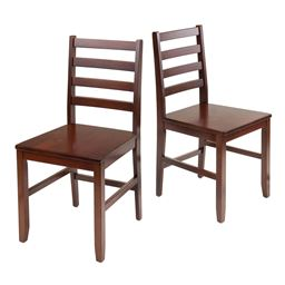 Winsome Wood Hamilton 2-Pc Ladder Back Chair