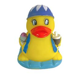 DUCKY CITY 3 Pool Party Rubber Duck Floats Upright - Baby Safe Bathtub Bathing Toy