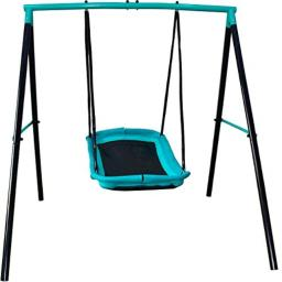 Swing Set - 70 Swing Sets for Backyard Sturdy Steel Frame for Up to 2 Children Saucer Swing with Frame Toddler Swing with Stand