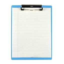 Saunders US-Works 21567 Acrylic Clipboard - Blue, Letter/A4 Size, High-Clarity Shatter Resistant Writing Clipboard with Inch/Metric Ruler Edges