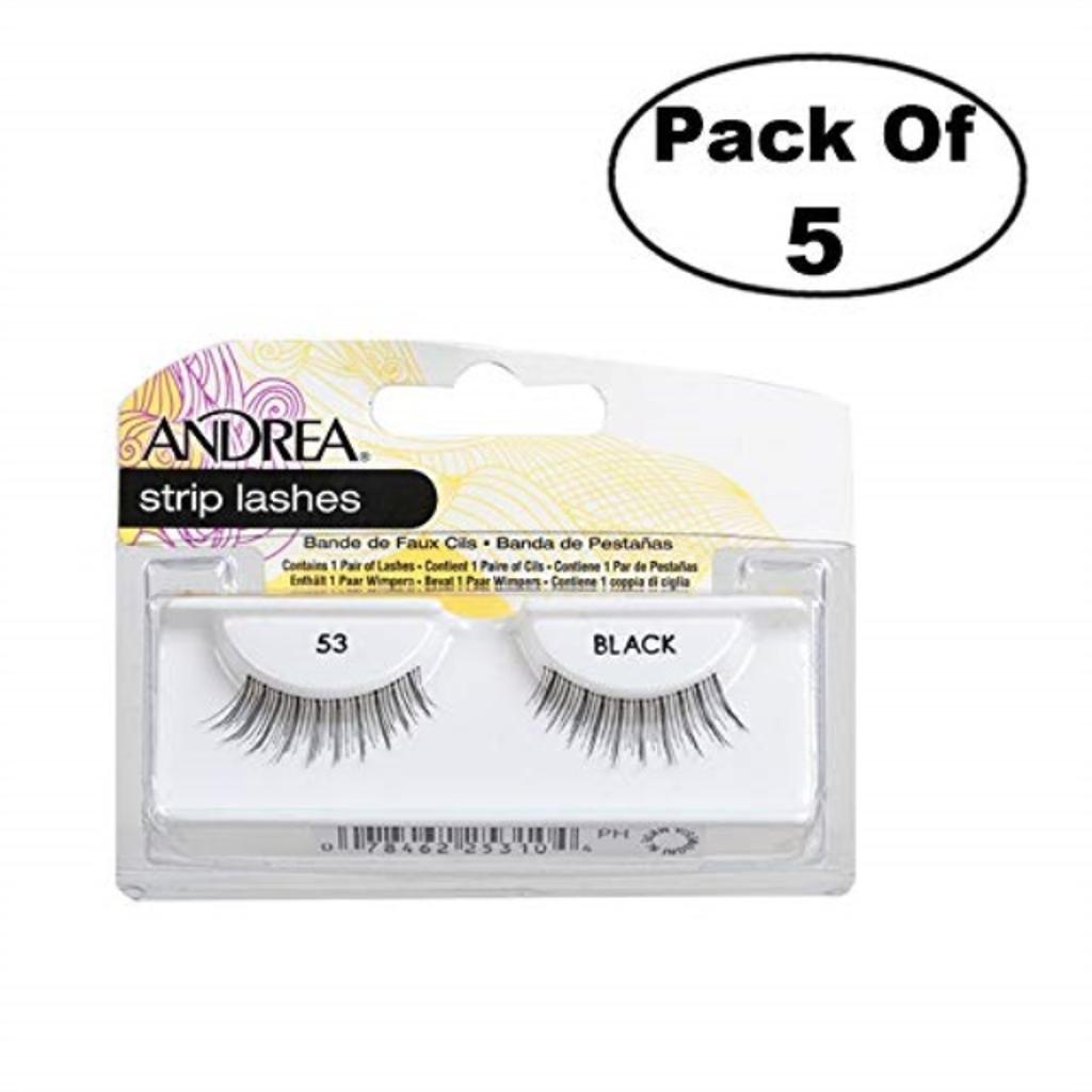 Andrea Eyelash Strip Lashes Black [53] 1 ea (Pack of 5)
