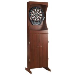 Centerpoint Solid Wood Dartboard Cabinet - Solid Poplar with Dark Cherry Finish
