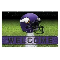 "FANMATS 19950 Team Color 18"" x 30"" Crumb Rubber Minnesota Vikings Door Mat"