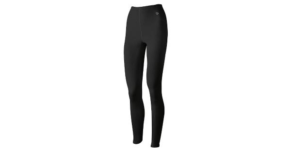 Duofold Women's Mid Weight Wicking Thermal Leggings, Black,, Black, Size Medium