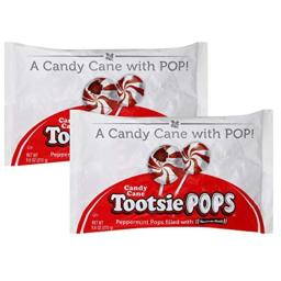 Peppermint Candy Cane Tootsie Pops (Pack of 2)