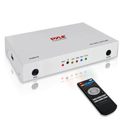 Pyle Video Game Capture Card - AV Recorder Converter, HDMI Support, Full HD 1080P Digital Media File Creation System with Audio for USB, SD, PC, DVD, PS4, PS3, Xbox One, Xbox 360 and Wii(PVRC75)