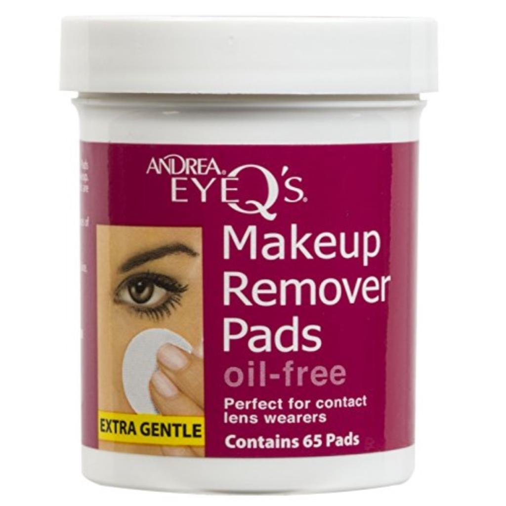 Andrea Eye Q's Oil-free Eye Makeup Remover Pads, 65 Count