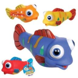 4 Silly Fish Water Squirters Bath Tub Toy - by GrandSlamm