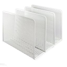 Artistic Urban Collection Punched Metal File Sorter, White (ART20009WH)