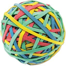 "Universal 00460 Rubber Band Ball, 3"" Size, 2 3/4"" Length, 260 Bands"