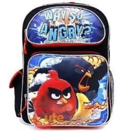 "Angry Birds 16"" inches Large Backpack - WHY SO ANGRY? New Licensed"
