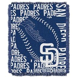 "The Northwest Company Officially Licensed MLB San Diego Padres Double Play Jacquard Throw, 48"" x 60"""