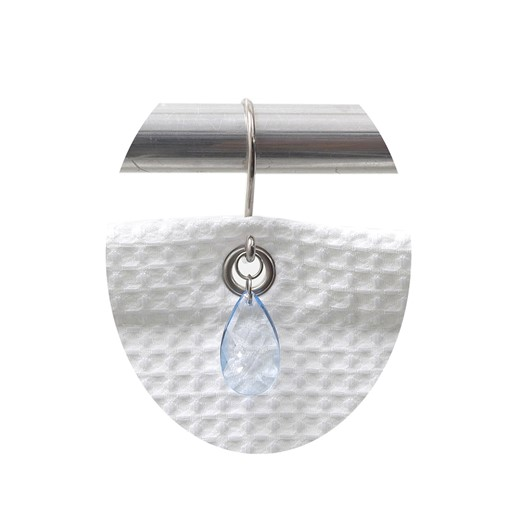 Carnation Home Fashions Prism Resin Shower Curtain Hooks in Slate