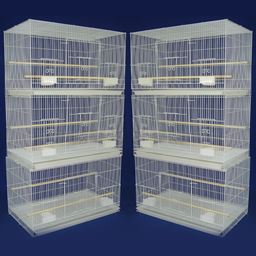 YML Lot of 6 Small Breeding Cages, White