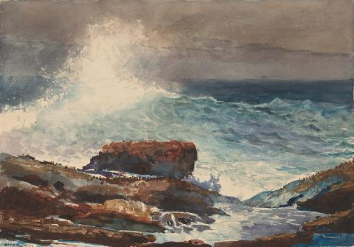 Incoming Tide, Scarboro, Maine, By Winslow Homer, 1883, American Painting, Drawing, Watercolor On Paper Poster Print