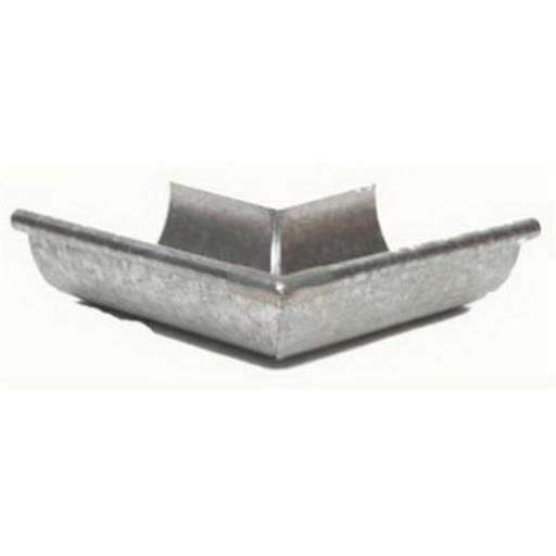 Amerimax Home Products LOS265 5 in. Galvanized Outside Gutter Half Round Mitre