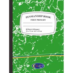 Premium First/Primary Grade Penmanship Book - Green