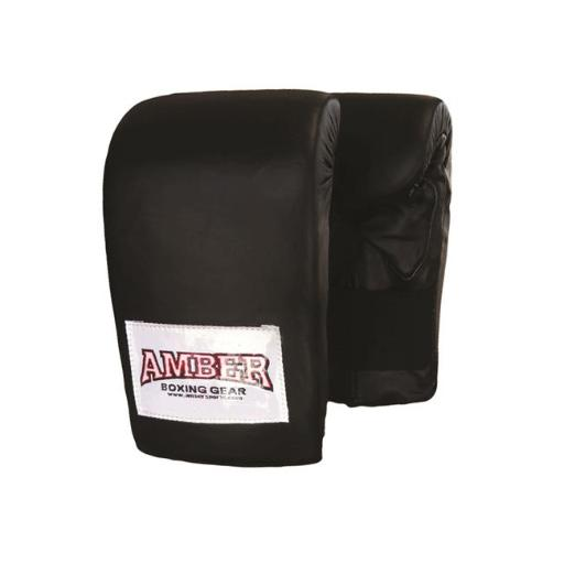 Amber Fight Gear APG-3011-B-M Deluxe Boxing Bag Gloves, Medium - Black
