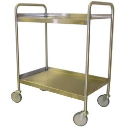 Prairie View UCSS1830-2 Stainless Steel Utility Carts with 2 Tier - 42 x 19 x 31 in.
